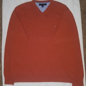 Tommy Hilfiger v-neck knit sweater/Sz L